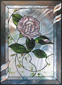 Free Border Rose Bevel Panel Pattern
