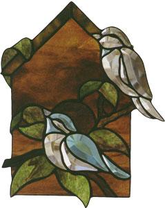 Free Birdhouse Bevel Pattern (Faces Left)