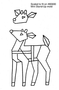 Free Little Deer Stand Up Mold Pattern