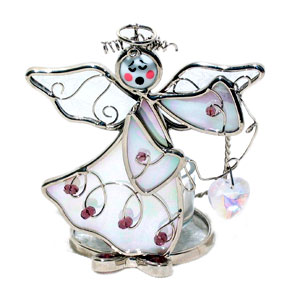 Angel With Heart Votive