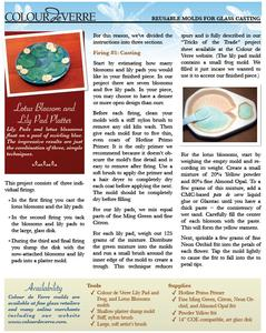 Free Lotus Blossoms and Lily Pad Project Guide