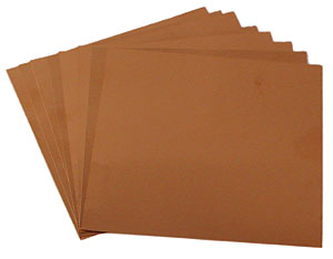 3 x 3 Square 40 Gauge Copper Sheets - 8 Pack