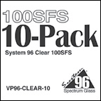 System 96 Icicle Clear 10 Piece Glass Pack - 96 COE