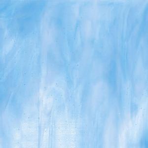 Bullseye Clear, Turquoise Blue, White Streaky - 90 COE