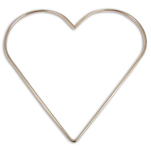 8 x 8 Nickel Plated Heart Ring
