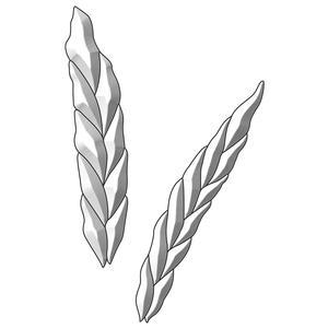 Harvest Grain Clear Bevel Cluster