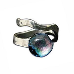 Sterling Silver Wave Adjustable Ring