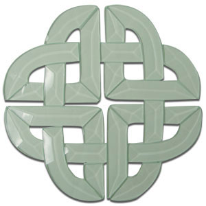 Small Celtic Knot Bevel Cluster