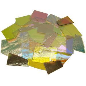 1/2 Lb CBS Dichroic Scrap on Thin Clear - 96 COE