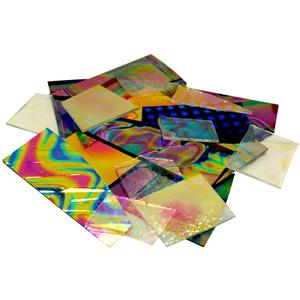 1/2 Lb CBS Dichroic Pattern Scrap Pack - 96 COE