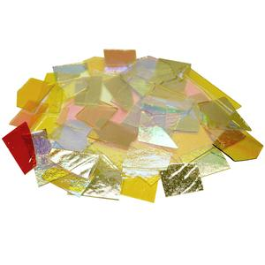 1 lb CBS Solid Colors Dichroic Scrap On Thin Clear - 90 COE