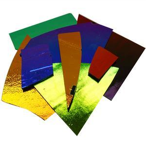 96 Coe 1//4 Lb Fire-Polished Black Rainbow Dichroic Squares
