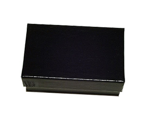 Glossy Black Cardboard Ring or Earring Boxes