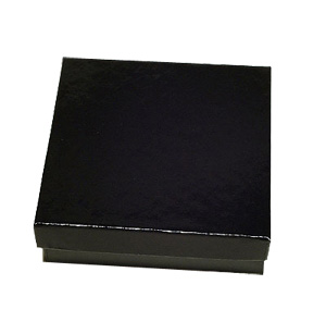 Glossy Black Cardboard Pendant Boxes