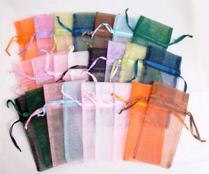 3 x 4 Organza Pouches - 24 Pack