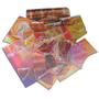 1/2 Lb DichroMagic Tie Dye Pattern Scrap On Clear - 90 COE