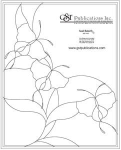 Free Butterflies Bevel Panel Pattern