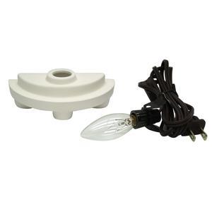 Small Ceramic Half Cylinder Lamp Base