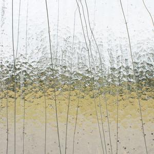 10 x 16 Bullseye Gray, Bronze and Vanilla on Clear Mardi Gras - 90 COE