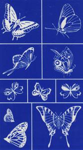Rub N Etch Stencil - Butterfly Assortment