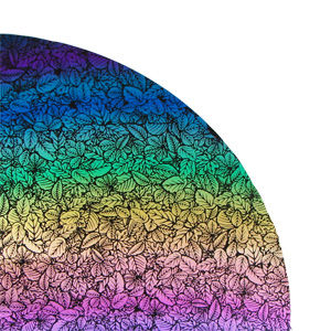 Flora Rainbow 2 On Thin Black - 96 COE