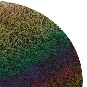 Fiber Rainbow 2 On Thin Black - 96 COE