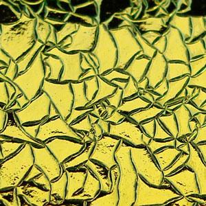 Cyan / Copper Crinklized on Thin Clear - 90 COE