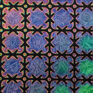 Rainbow Puzzle Crinklized on Thin Black - 90 COE