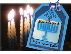 Free Menorah Gift Tag Project Guide