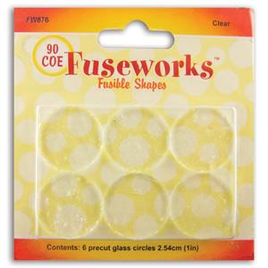 Fuseworks Clear Pre-Cut Circles - 90 COE