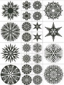 Snowflake Jewelry Set Sepia Slides