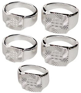 Silver Plated Ring Assortment - 5 Pack