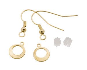 French Wire 14k Gold Plated Earrings - 5 Pack