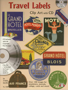 Travel Labels Clip Art With CD