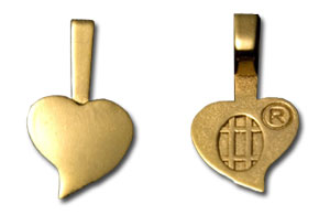 Small 18K Gold Plated Jewelry Heart Bails  ...