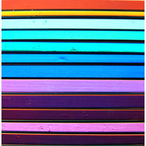 CBS Assorted Dichroic On Black Noodle 12 Pack - 96 COE