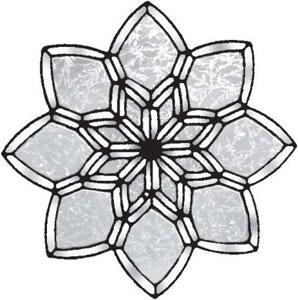 Glue Chip Kaleidoscope Flower Bevel Cluster
