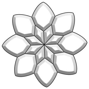 Kaleidoscope Flower Bevel Cluster