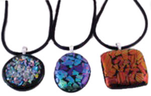 Free Cast Glass Dichroic Pendants