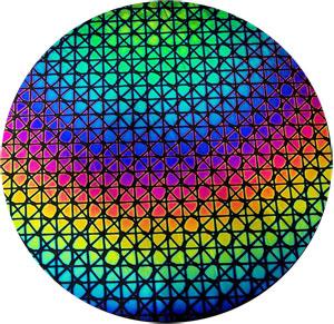 Rainbow Geodesic on Thin Clear - 90 COE