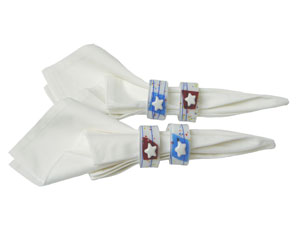 Free Patriotic Napkin Rings Project Guide