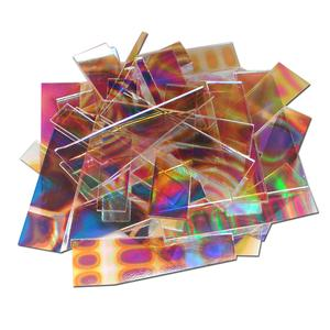 1 Lb DichroMagic Tie Dye Pattern Scrap On Clear - 90 COE