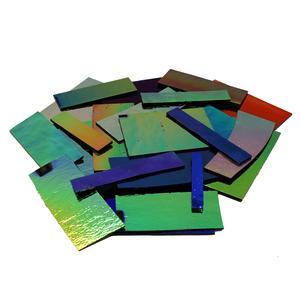 1 Lb DichroMagic Solid Colors Dichroic Scrap On Black - 90 COE