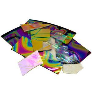 1/4 lb CBS Dichroic Pattern Scrap Pack - 96 COE