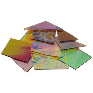 1/4 Lb CBS Crinklized Dichroic Scrap On Thin Clear - 96 COE