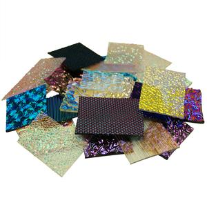 1 Lb CBS Dichroic Texture Scrap - 96 COE