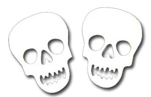 Skull Fusible Pre-Cut 2 Pack - 96 COE