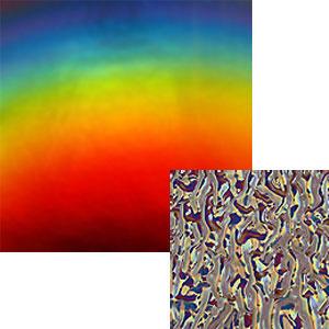 DichroMagic Rainbow on Black Granite Ripple - 96 COE