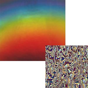 DichroMagic Premium Rainbow on Black Granite Ripple - 96 COE