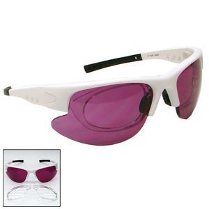 White Pro Safety Glasses - SB Lens